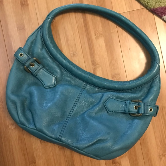 Kenneth Cole Handbags - Turquoise leather bag